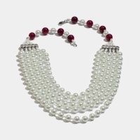 Beaded multi-strand necklace great for a layered look.