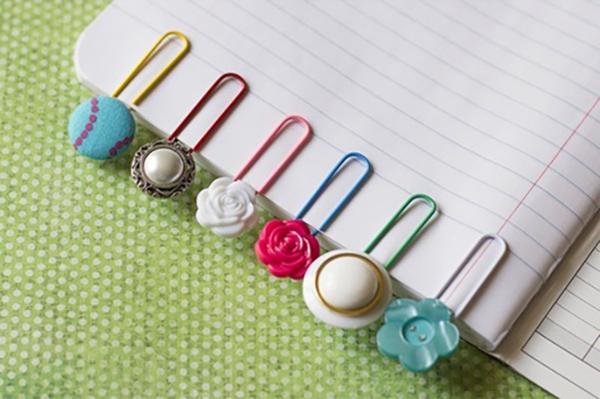 Repurpose earrings to create fun bookmarks!