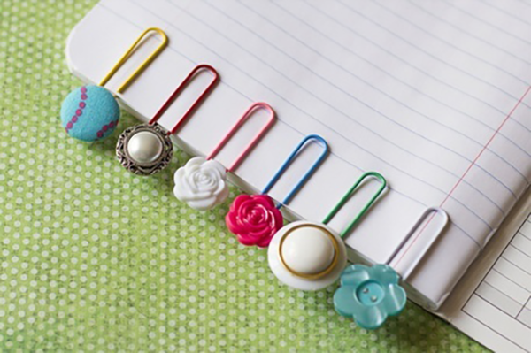Repurpose earrings to create fun bookmarks!
