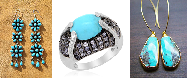 Sleeping Beauty Turquoise gemstone jewelry.