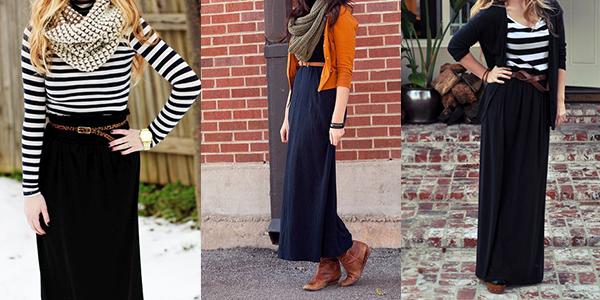 Women modeling maxi dresses.
