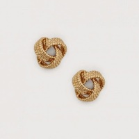 Gold knotty stud earrings