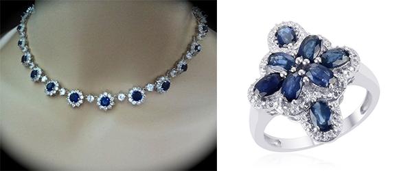 Blue sapphire gemstone jewelry.