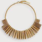 Gold bib necklace