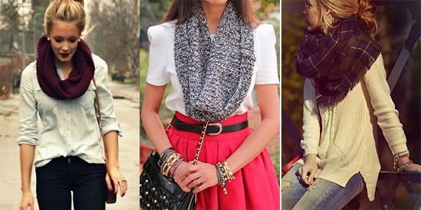 Women wearing scarves.