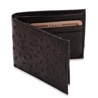 Wallet with ostrich-skin pattern.