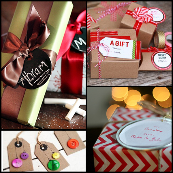 One of our best gift wrapping tips is to tag everything! It keeps things organized!