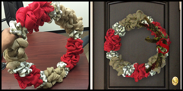 Show us your finished wreathes on Facebook!