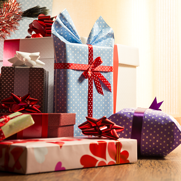 Change up your gift wrapping! It's a great way to mix things up.