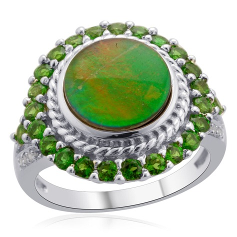 Canadian Ammolite Ring