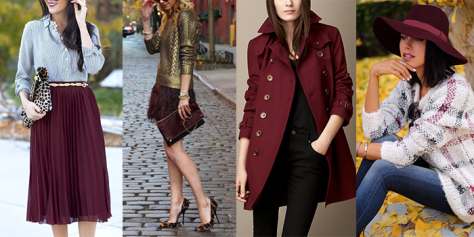 marsala fashion collage
