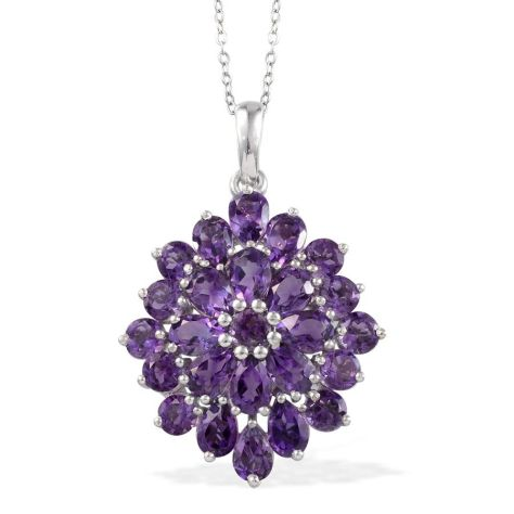 Uruguayan Amethyst (Pear) Pendant With Chain